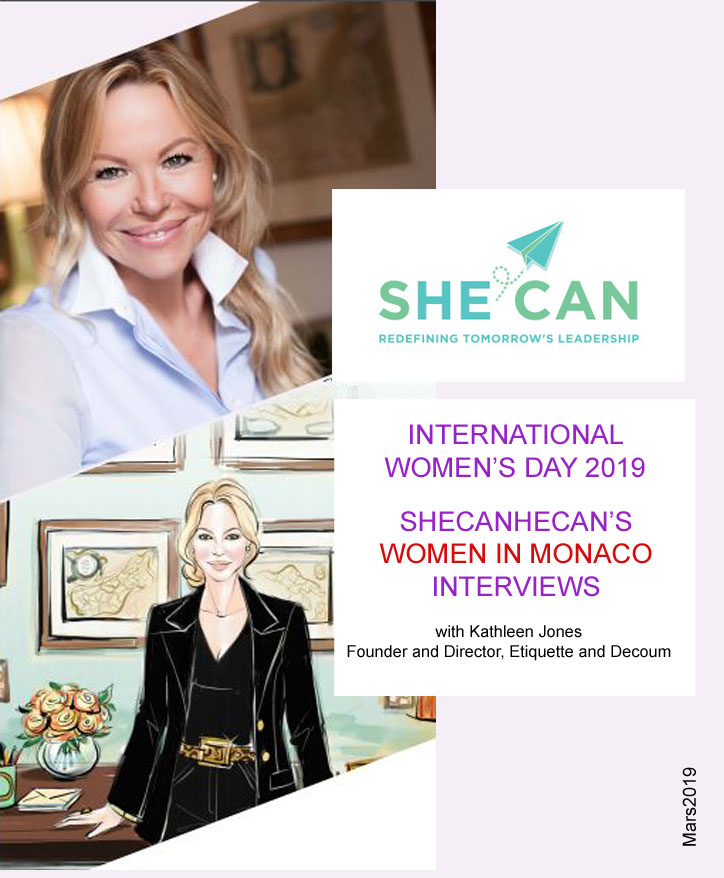 ShecanHecan - Interview de Kathleen Jones - Etiquette and Decorum Monaco